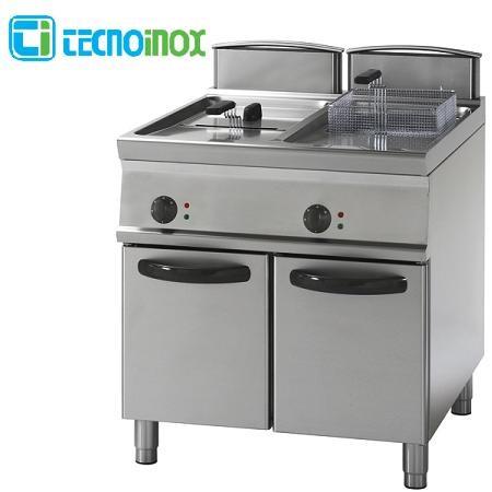 Elektro-Fritteuse Tecnoinox 2x13 Liter FR83FE7 Doppelbecken-Gastronomie-Friteuse