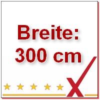 Breite 300 cm