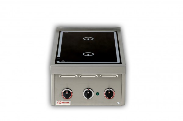 Berner BI2KTD10 Induktionsdoppelkochplatte als Tischgerät