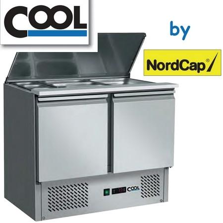 COOL by Nordcap Saladette SL 9, 2 x GN 1/1 + 3 x GN 1/6, Edelstahl, Umluft für die Gastronomie