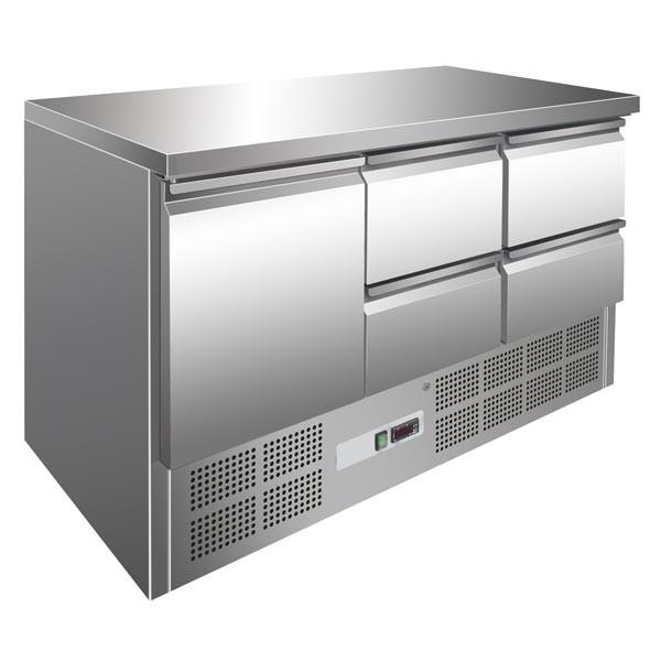 GastroXtrem Kühltisch 1 Tür + 4 Laden