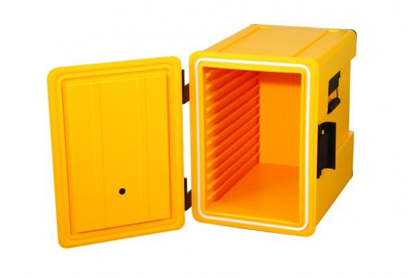 Kunststoff Thermoport 12 x GN 1/1, unbeheizt, Gastronomie Speisentransportbehälter, Frontlader