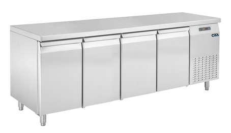 COOL by Nordcap Kühltisch KT-2190-4T, 4 Türen, Edelstahl, Umluft für die Gastronomie