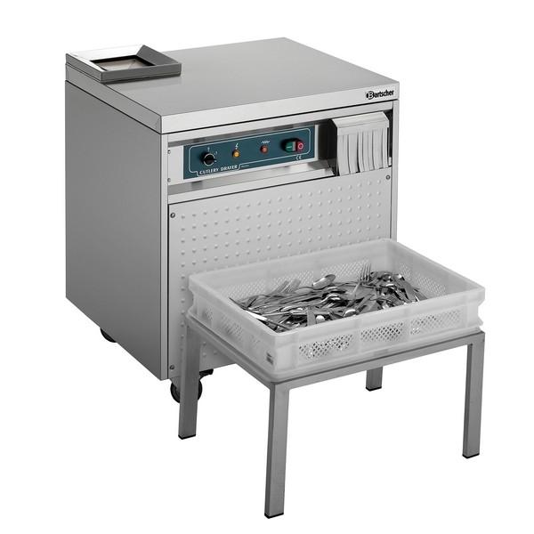 Bartscher Besteckpoliermaschine fahrbar auf Rollen 110425 mit automatischem Auswurf