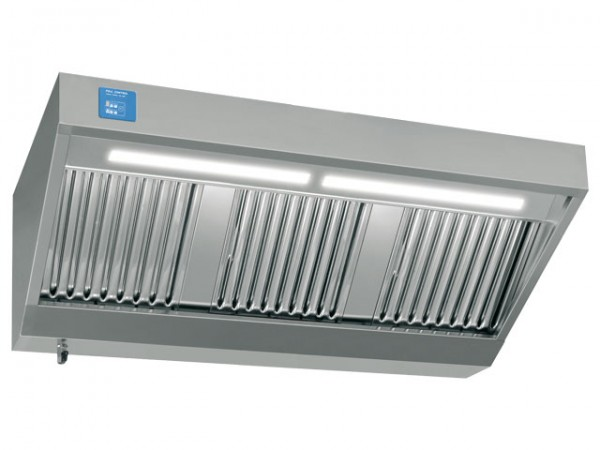 Wandhaube, 2400x900mm, mit eingebautem Motor, Regler und Licht, 2.700m³/h, 230V