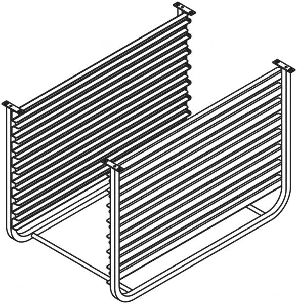 Auflageschieneneinsatz für Untergestell ISR071 + ISR101 für die Aufnahme von 8 GN 1/1 Behältern
