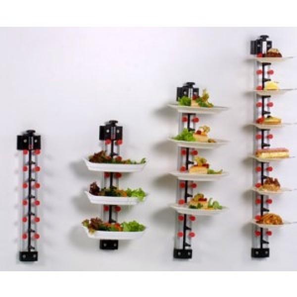 Tellerstapler Wandmodell 6 Teller PLATE MATE Tellerstapelsystem für die Gastronomie