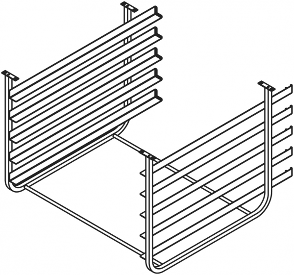 Auflageschieneneinsatz für Untergestell ISR071 + ISR101 für die Aufnahme von 5 Euronormbleche