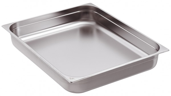 GN-Behälter Edelstahl 2/1 10 cm, 28,5 Liter