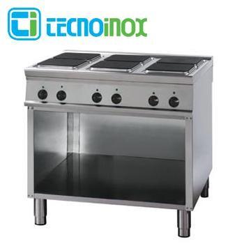 Gastronomie-Elektrokochfeld mit 6 Heizzonen eckig / quadratisch 24 kW Tecnoinox PC12FE9
