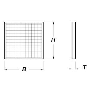 Edelstahl-Netzfilter, 290x590mm für Gastro-Abluftreinigungsanlagen