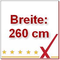 Breite 260 cm