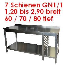 7 x GN 1/1 Arbeitstische