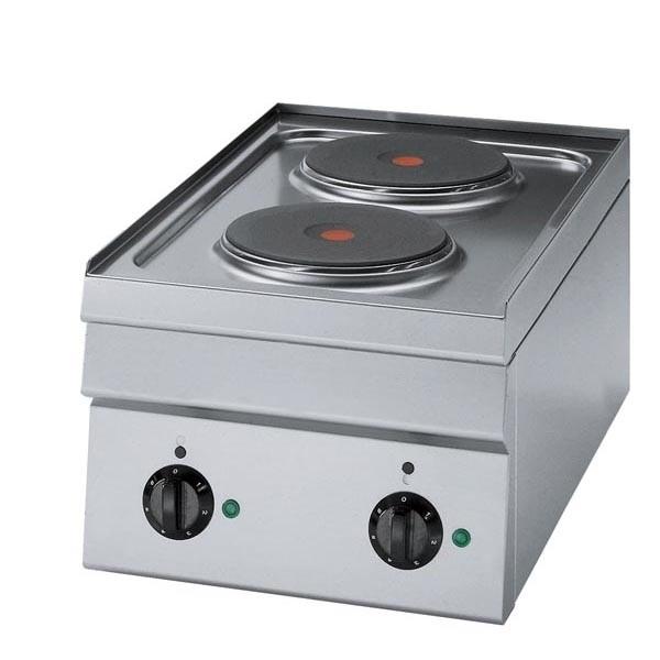 Tecnoinox Kochfläche, Elektro, 2 runde Platten, 3kW