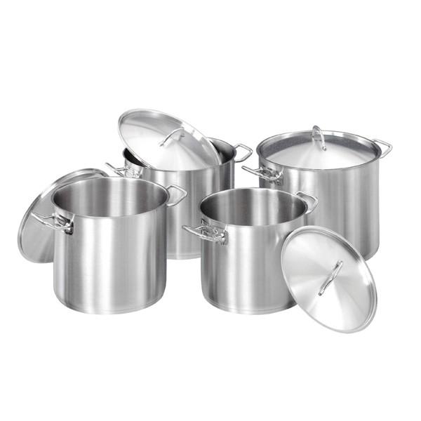 Bartscher Kochtopfset mit 4 Töpfen inkl. Deckel - A130441