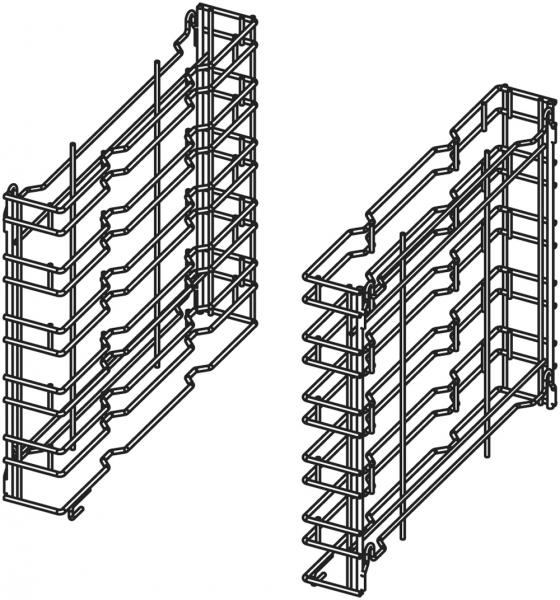 Kombi-Auflageschieneneinsatz für Untergestell ISR101 für die Aufnahme von 5 GN 1/1 Behältern oder 5