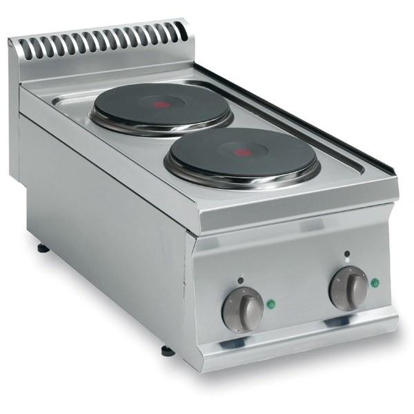 Tecnoinox Kochfläche, Elektro, 2 Platten, rund, 4 kW