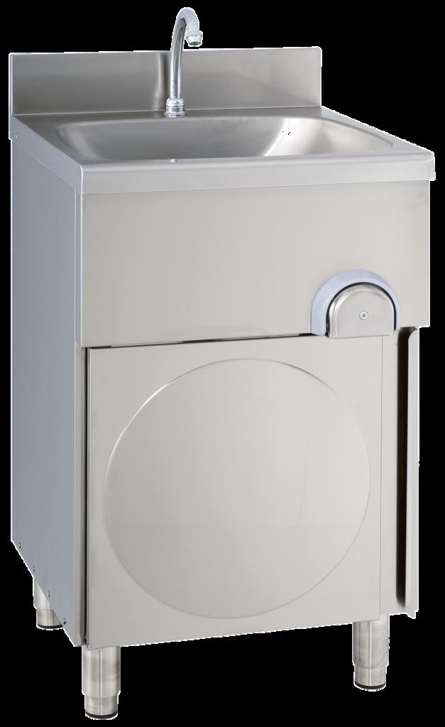 gastroxtrem handwaschbecken mit unterschrank sensormischbatterie infrarotarmatur. Black Bedroom Furniture Sets. Home Design Ideas