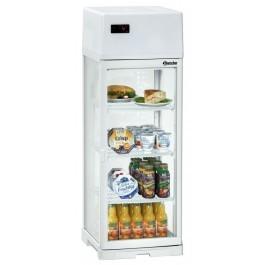 Bartscher Mini Kühlvitrine 80 Liter, weiß