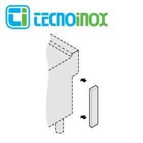 Tecnoinox Verbindungspaneel, ½ M für Inselaufstellung der Profi 900 Serie