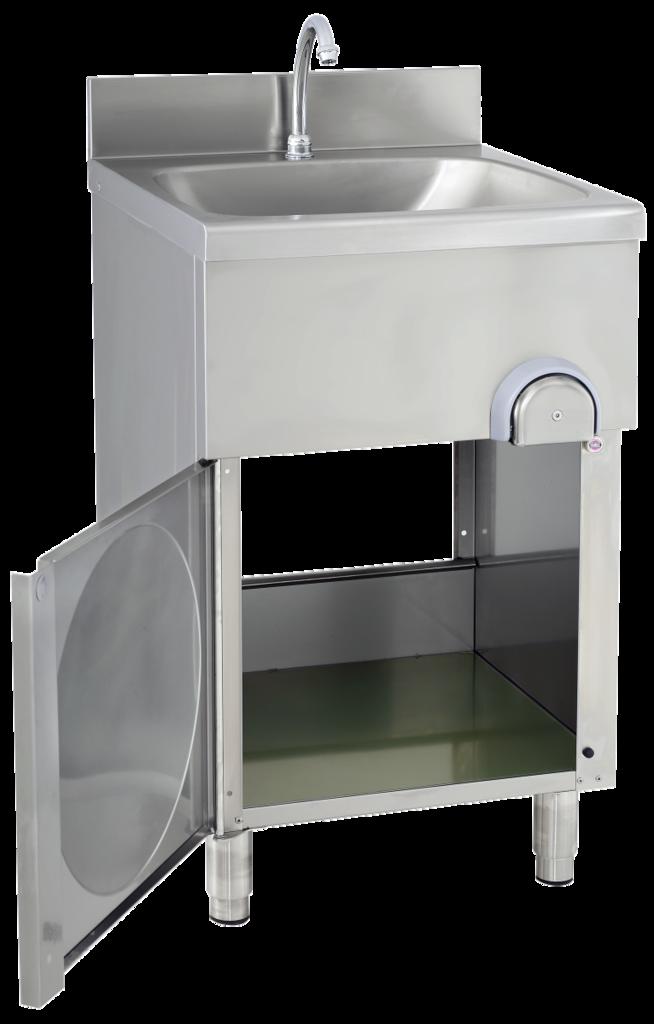 gastroxtrem handwaschbecken mit unterschrank sensormischbatterie infrarotarmatur