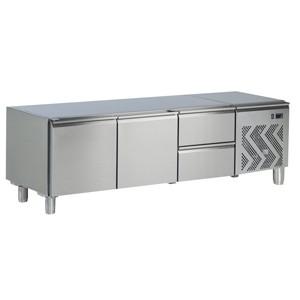 Tecnoinox Kühl-Unterbau, 2 Türen & 2 Schubladen, 265lt.