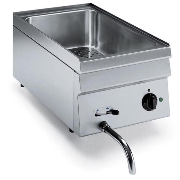 Tecnoinox Bainmarie, Gas, 2kW mit 1 Becken für GN 1/1 H=150mm