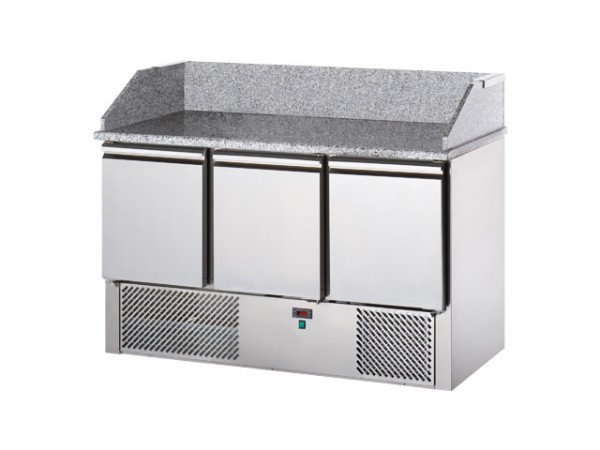 GastroXtrem Pizzakühltisch 3 Türen für Gastronomie & Großküchen