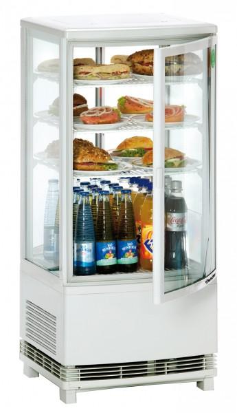 Bartscher Mini Kühlvitrine 86 Liter, weiß, für die Gastronomie