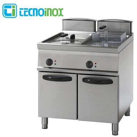 Gas-Fritteuse Tecnoinox 2x13 Liter FRV83FG7 Doppelbecken-Gastronomie-Friteuse