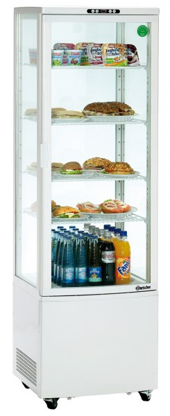 Mini Kühlvitrine Ecoline 235 Liter, weiß, fahrbar