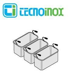 Tecnoinox Nudelkorb-Set 3 x GN 1/3 x 200 für 40-Liter-Becken der Gastronomiegeräte-Serie Profi 900
