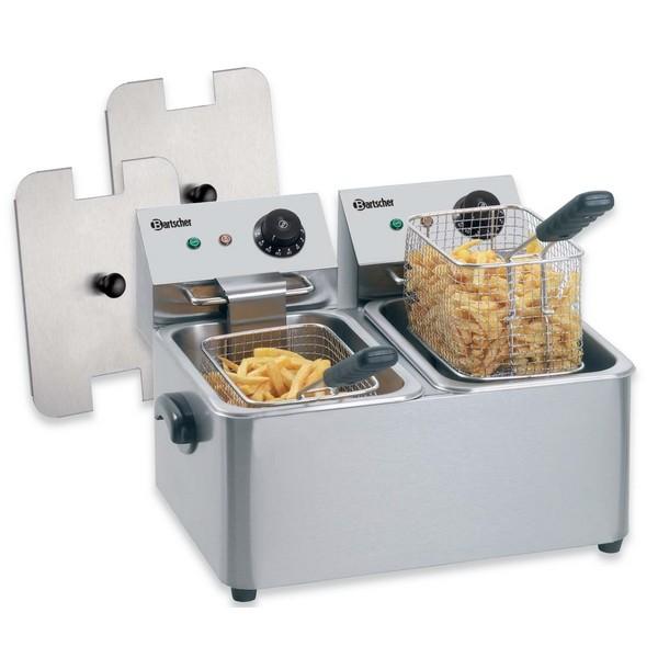 Bartscher Elektro-Fritteuse Snack II A162402E - 2x4 Liter - 230V - 2x2 kW