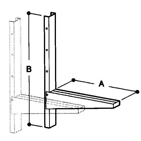 Wandhalterungen für Airbox, max. 1050mm Tiefe