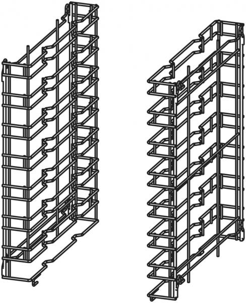 Kombi-Auflageschieneneinsatz für Untergestell ISR071 für die Aufnahme von 7 GN 1/1 Behältern oder 7