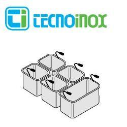 Tecnoinox Nudelkorb-Set 1 x GN 1/3 + 4 x GN 1/6 x 200 für 40L-Becken der Gastrogeräte-Serie Profi 90