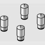 Füße für Bodenaufstellung von LAINOX Kombidämpfer 6xGN 1/1 + 10 xGN 1/1 + 10xGN 2/1
