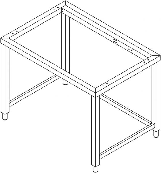 Untergestell für 7 x GN 2/1 Geräte