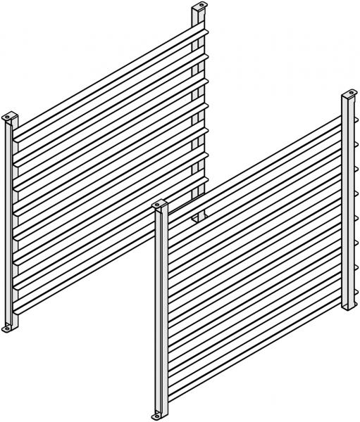 Euronorm - Auflageschienen für 10 x GN 1/1 Geräte