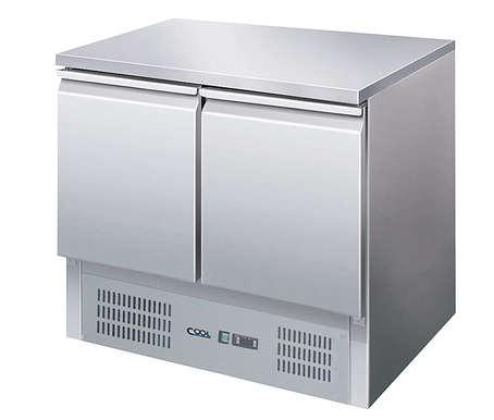 COOL by Nordcap Kühltisch KT-9-2T, 2 Türen, Edelstahl, Umluft für die Gastronomie