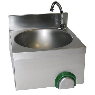 gastroxtrem handwaschbecken mit kniebet tigung 40 x 40 cm sensormischbatterie infrarotarmatur. Black Bedroom Furniture Sets. Home Design Ideas