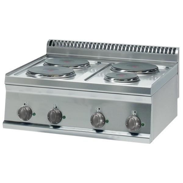 Tecnoinox Kochfläche, Elektro, 4 Platten, rund, 7,5 kW