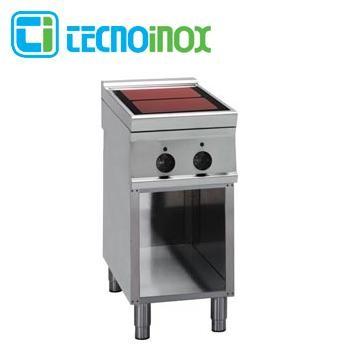 Gastronomie-Cerankochfeld 2 Heizzonen 6,8 kW Tecnoinox PCC4FE9 Glaskeramik / Infrarot