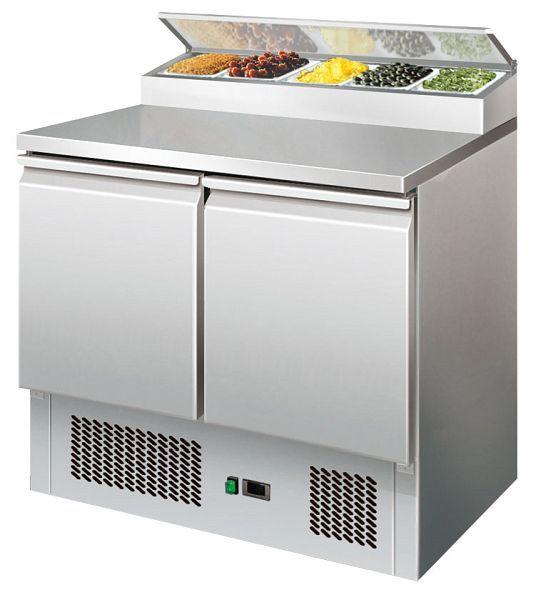 GGG Kühltisch PS200 - Saladette mit Kühlaufsatz 5 x GN 1/6 für die Gastronomie