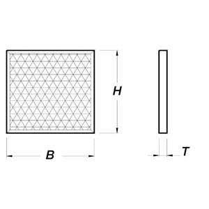 Synthetik-Filter, 290x590mm für Gastro-Abluftreinigungsanlagen