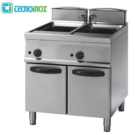 Elektro-Multikocher Tecnoinox 2x26 Liter CP8FE7 Gastro-Nudelkocher
