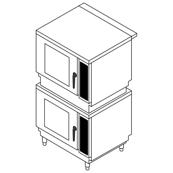 Stapelkit für 6 x GN 1/1 + 10 x GN 1/1 für Elektro LAINOX Kombidämpfer