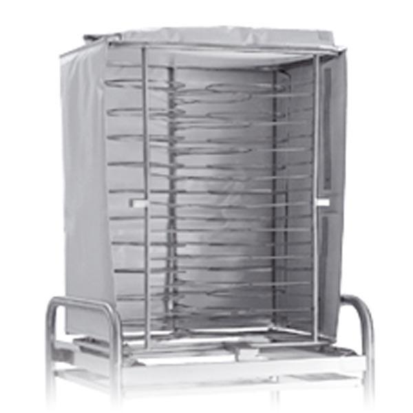 Warmhaltehauben für 10xGN 2/1 Hordengestelle