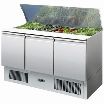 GastroXtrem Saladette 4 x GN 1/1, Edelstahl, Umluft für die Gastronomie