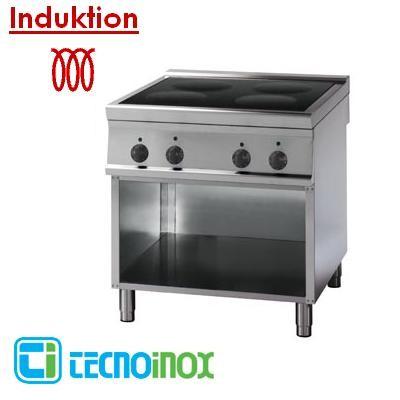 Gastronomie-Induktionsherd mit 4 Heizzonen 20 kW Tecnoinox PIN8FE9